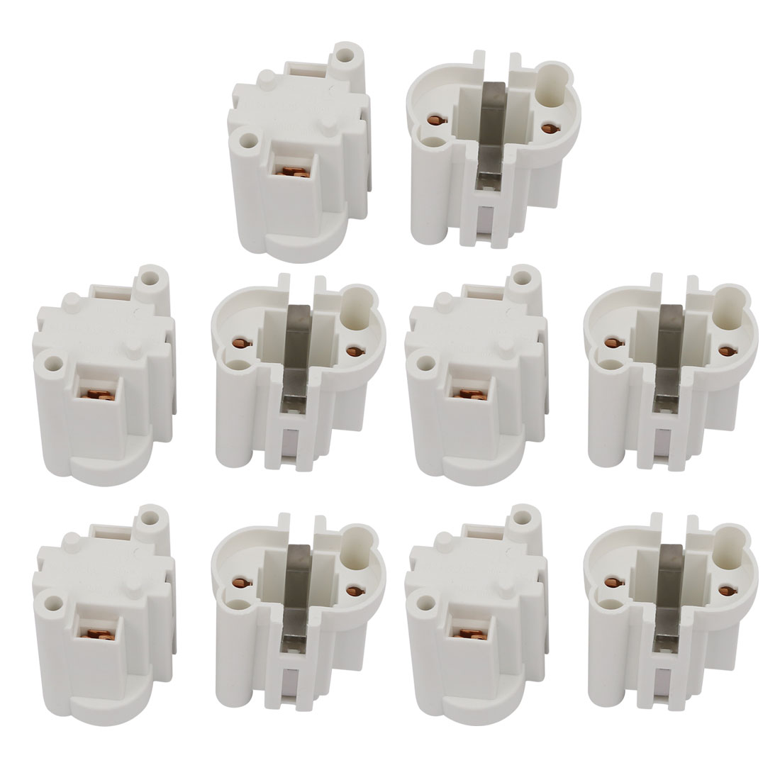 10 Pcs G23-F269 AC 500V 2A Light Socket Base Fluorescent PL Tube Lamp Holder