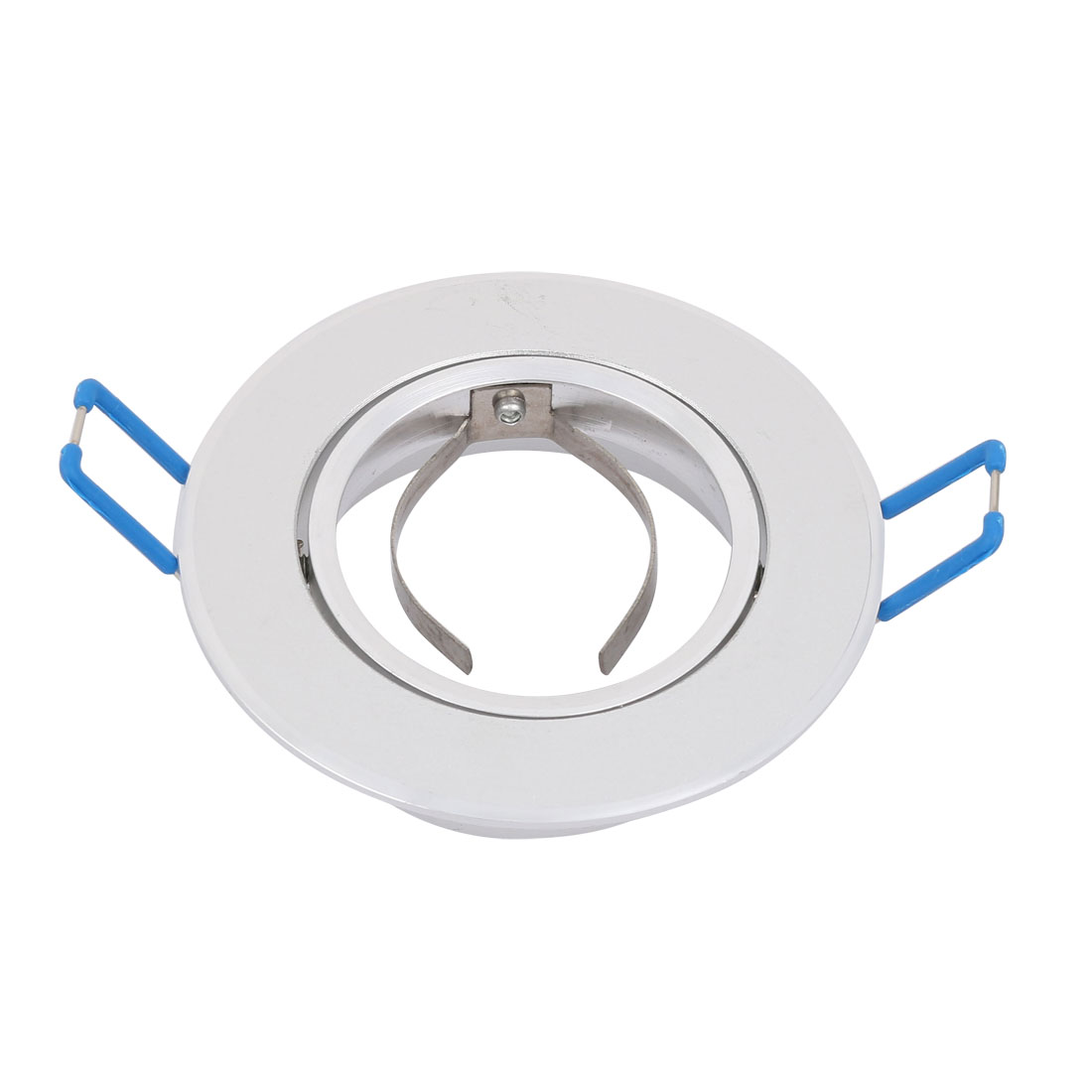 84mm Dia Spotlight Ceiling Light Bracket Downlight Holder Adjustable Sliver Tone