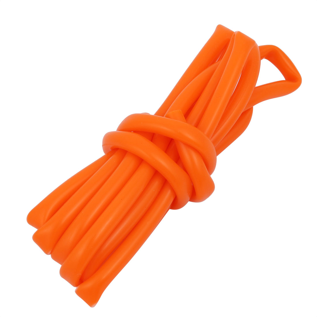 5mm x 7mm Dia High Temp Resistant Silicone Tube Hose Rubber Pipe Orange 2M Long