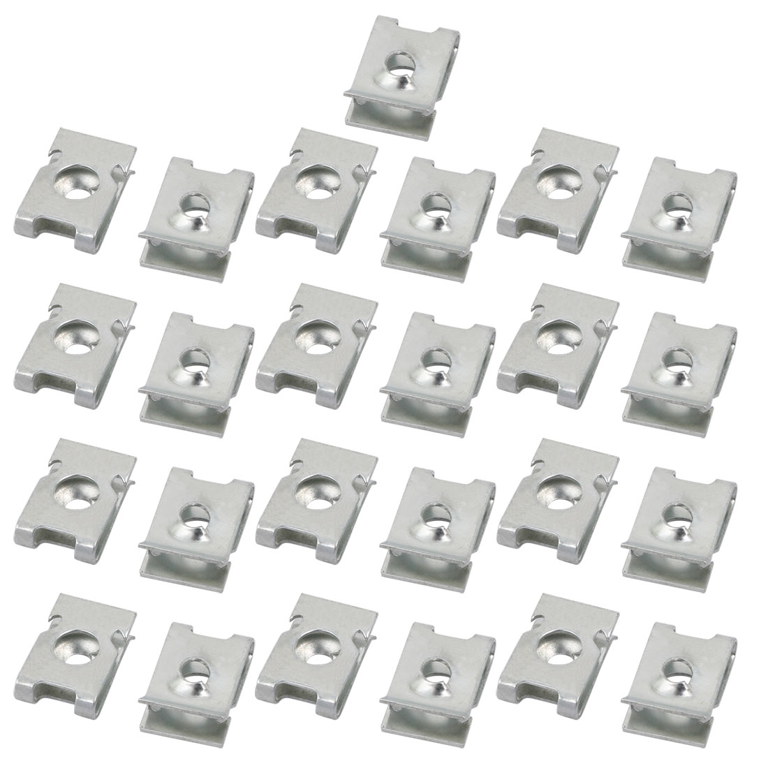 25pcs 65Mn Spring Steel Extruded U Nut Clip fit ST4.2 Bolt