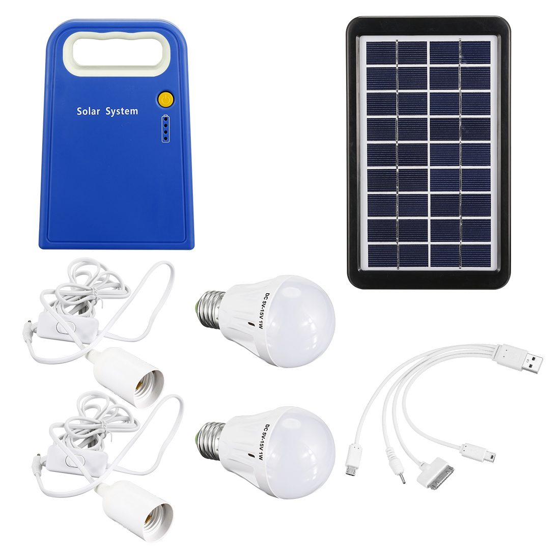 3 Watt Solar Generator System Power Inverter Portable Kit 500mAh Rechargeable