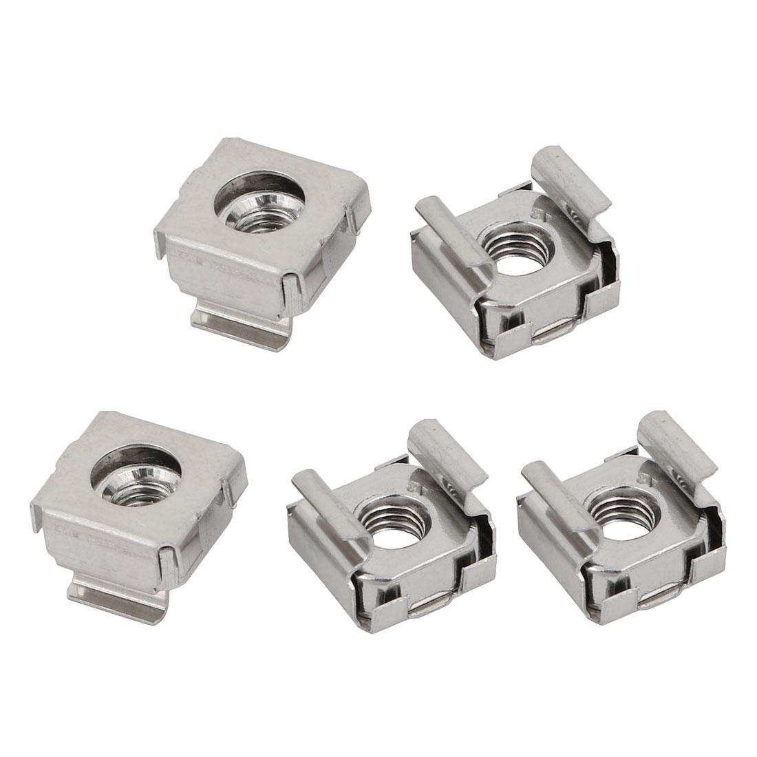 5pcs M5 304 Stainless Steel Cage Nut for Server Shelves Shelf Cabinet