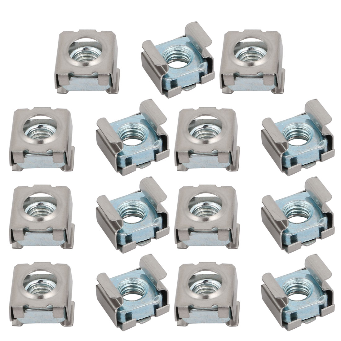15pcs M6 Carbon Steel Zinc Plated Cage Nut for Server Shelf Cabinet