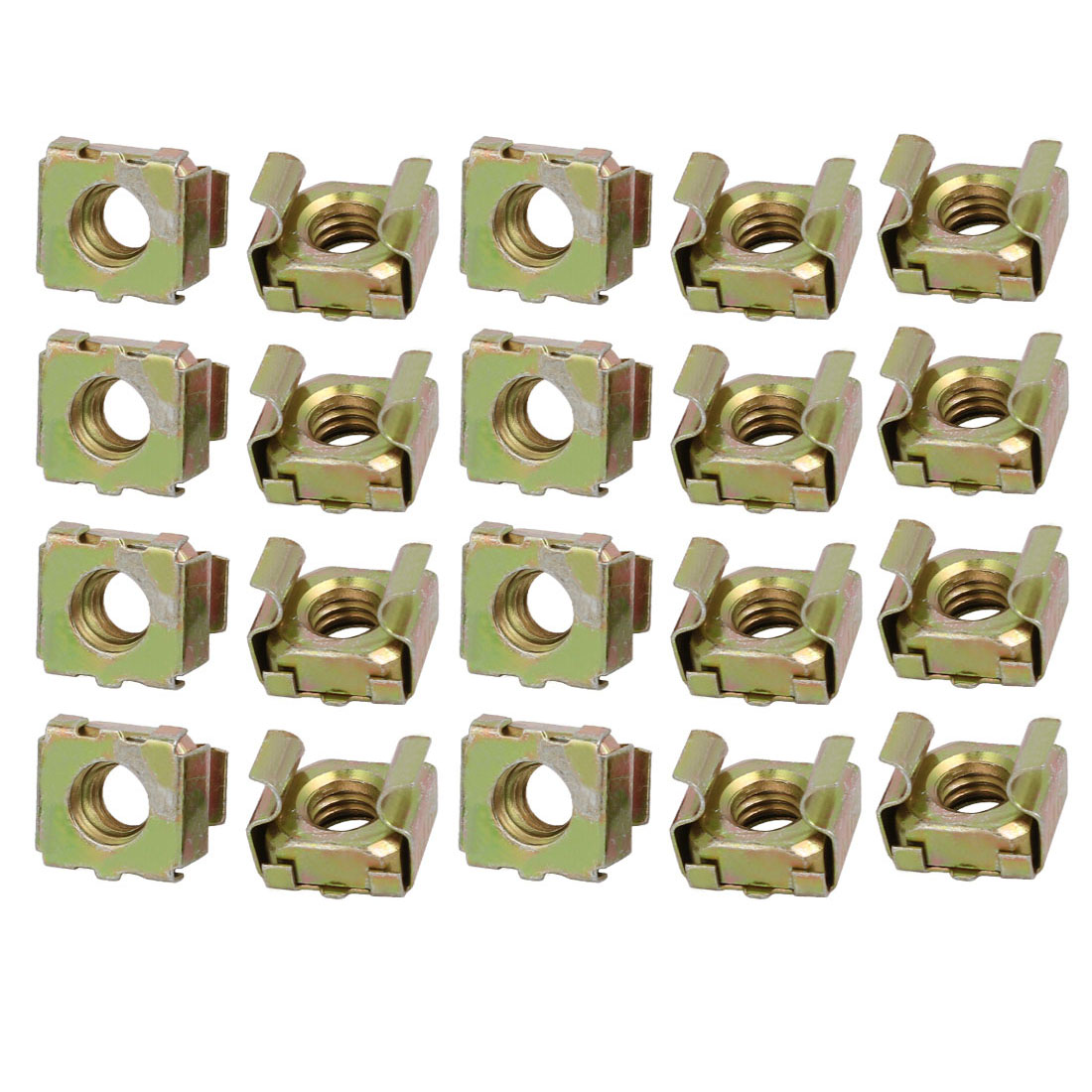 20pcs M6 65Mn Spring Steel Captive Cage Nut for Server Shelf Cabinet