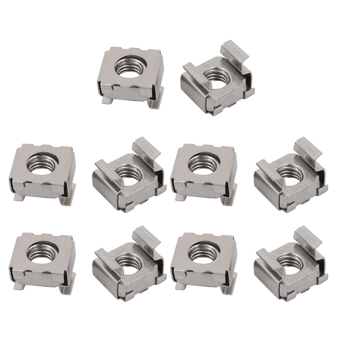 10pcs M6 304 Stainless Steel Cage Nut for Server Shelves Shelf Cabinet