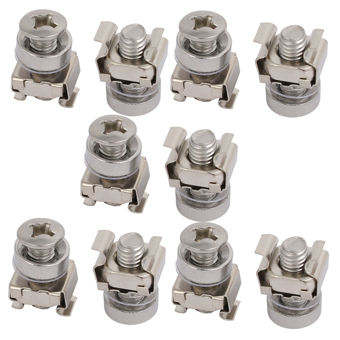 10pcs M6 Cage Nuts w Mounting Screws Washers for Server Rack Cabinet