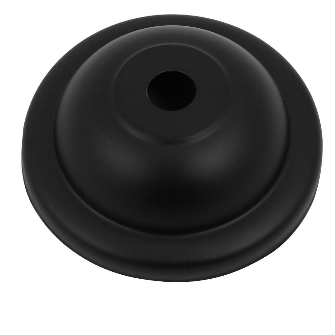 Metal Vintage Hemispherical Ceiling Plate Holder Lamp Disk Chassis Black