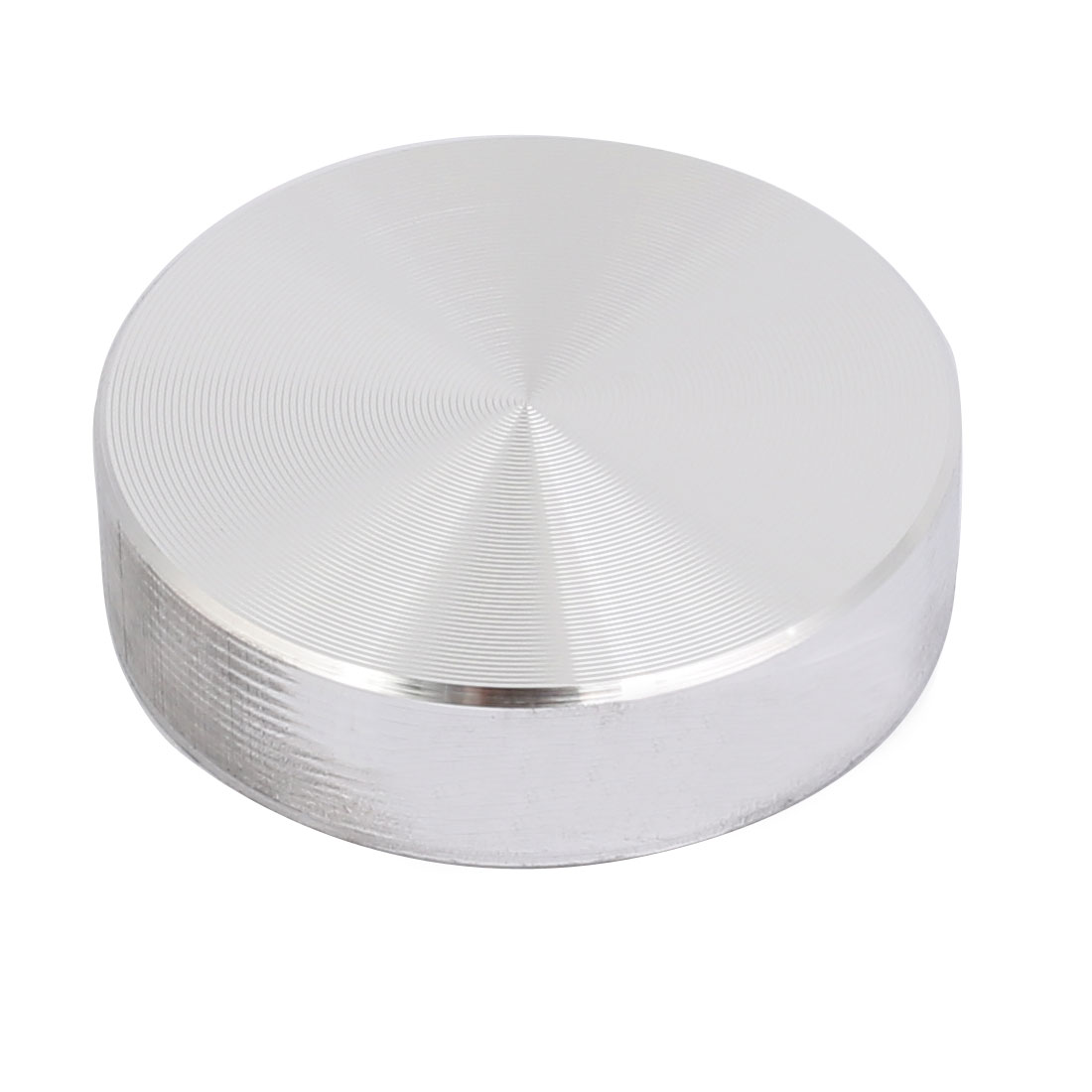 Aluminum Circle Disc Glass Top Adapter 0.31 Inch x 1.2 Inch Silver Tone