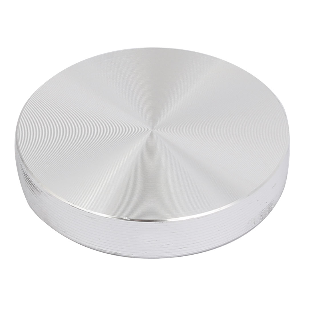Aluminum Circle Disc Glass Top Adapter 0.31-inch x 1.6-inch Silver Tone