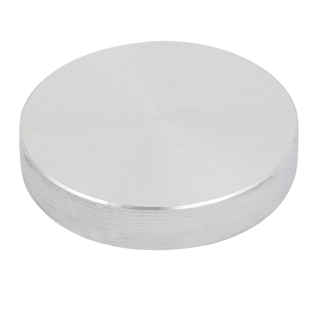 40mmx8mm M10 Tea Table Glass Top Circle Aluminum Disc Adapter Silver Tone