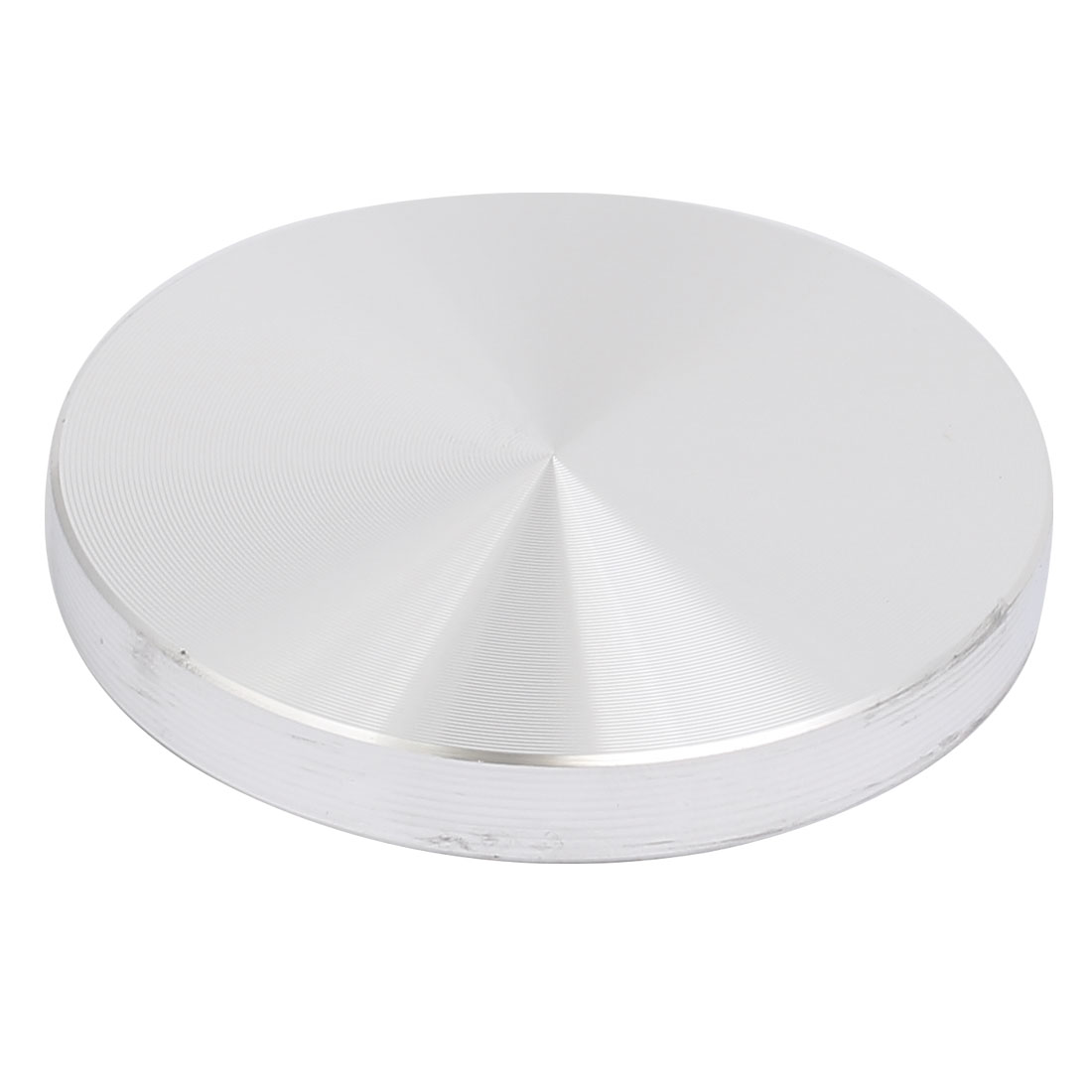 Aluminum Circle Disc Glass Top Adapter 0.31-inch x 2.36-inch Silver Tone
