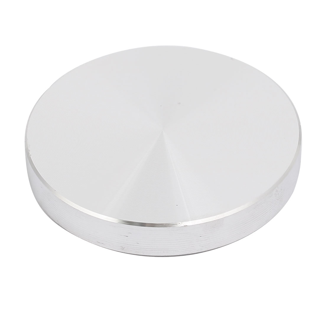 Aluminum Circle Disc Glass Top Adapter 8mmx50mm Silver Tone w M10x50mm Screw
