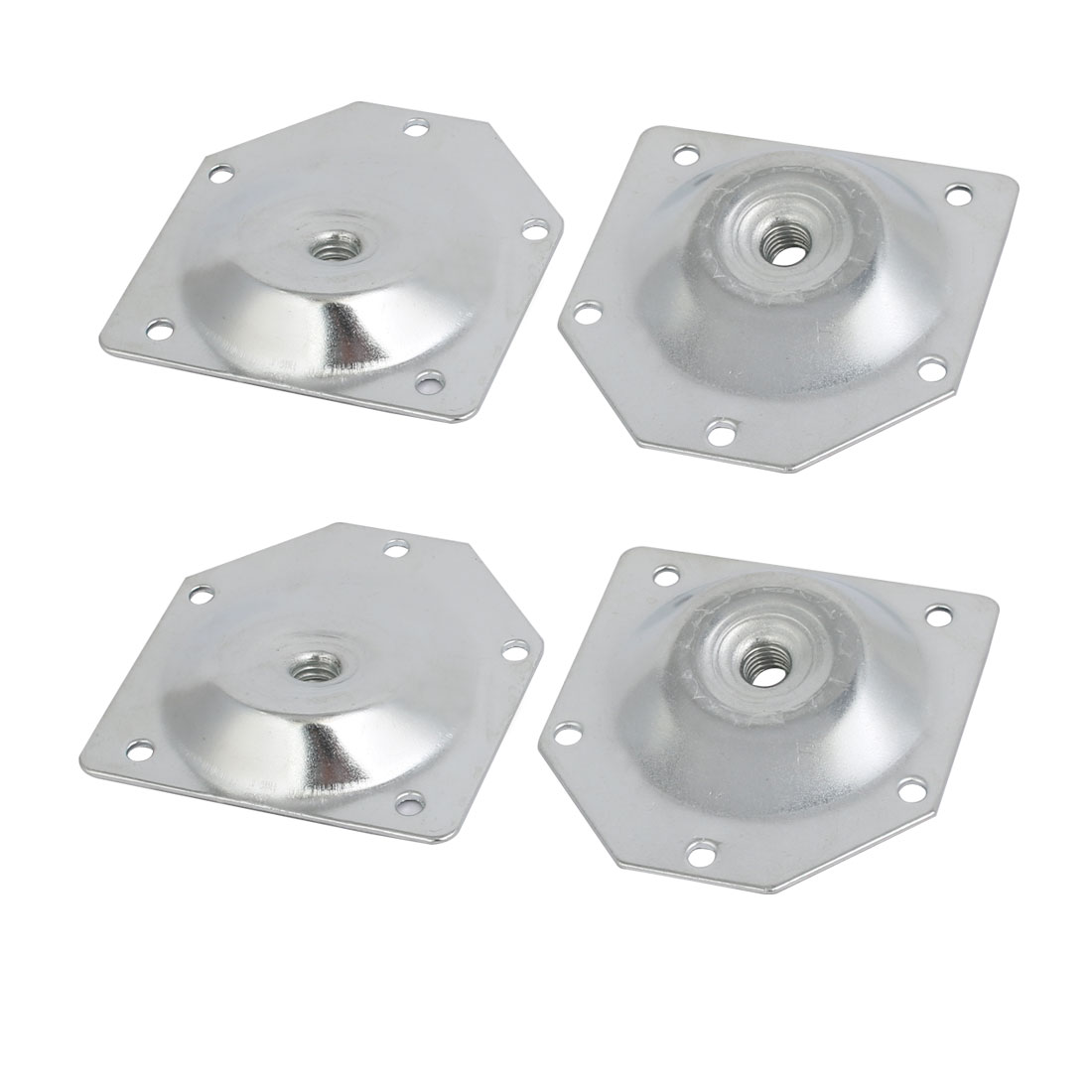70mmx67mmx1.2mm Zinc Plated Table Leg Mounting Plates Set 4pcs