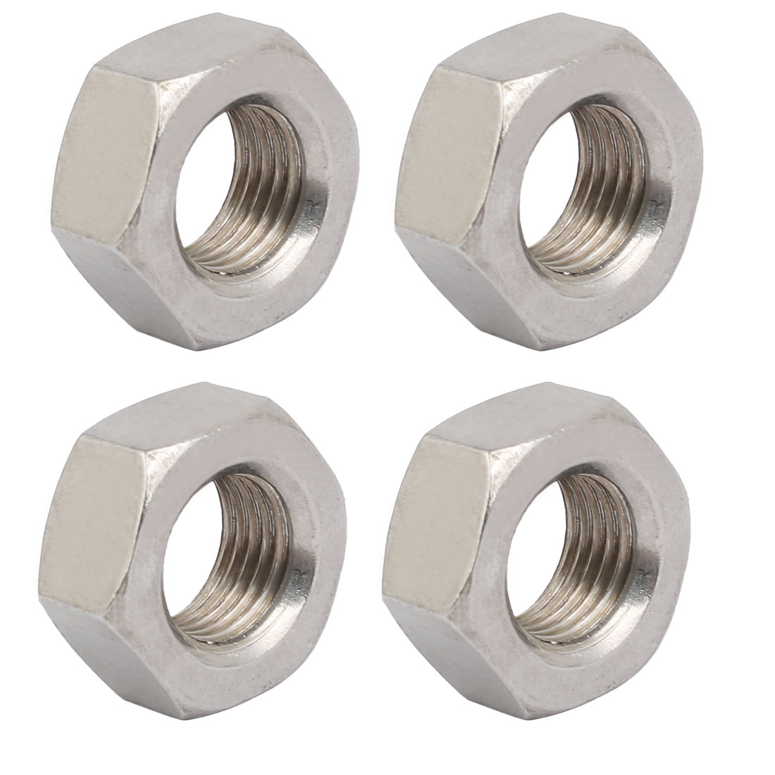 4pcs M14 x 1.5mm Pitch Metric Fine Thread 304 Stainless Steel Hex Nuts