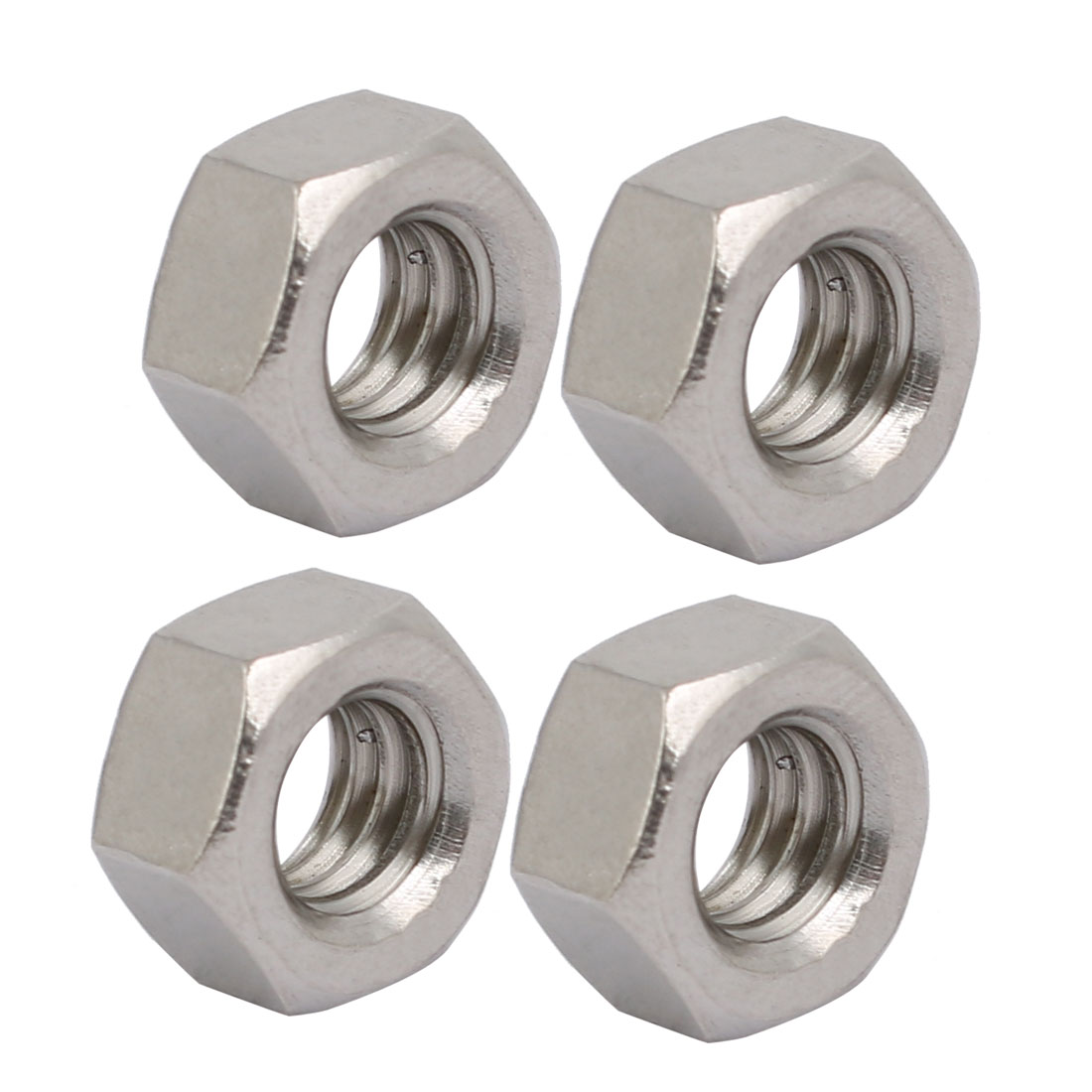 "4pcs 5/16""-18 Thread UNC Type 304 Stainless Steel Hex Nut Fastener Silver Tone"