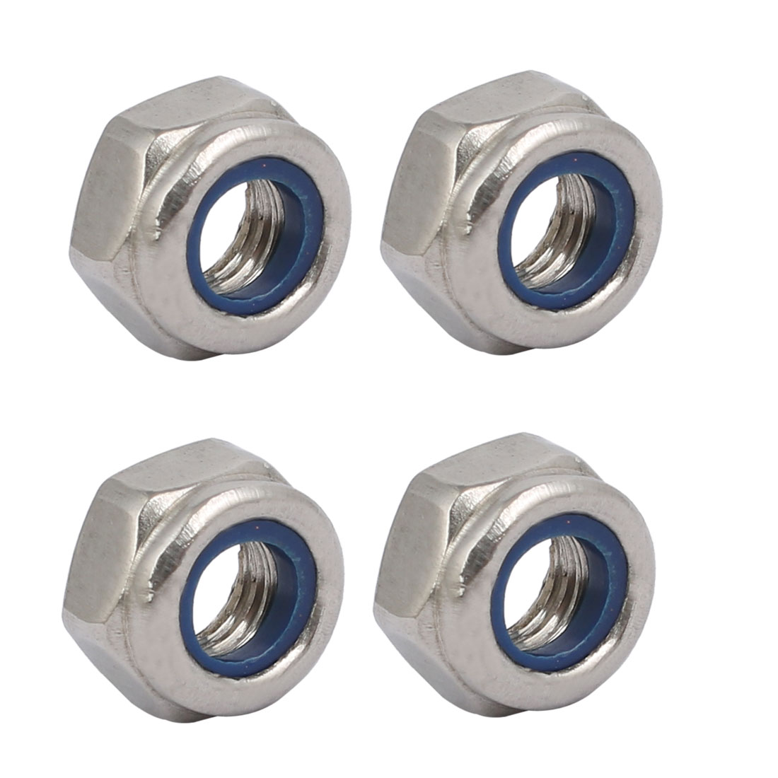 4pcs M6 x 1mm Pitch Metric Thread 304 Stainless Steel Left Hand Lock Nuts
