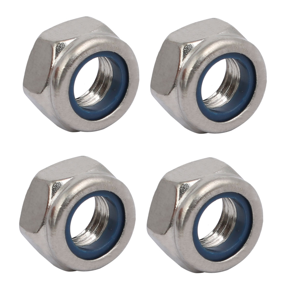 4pcs M8 x 1.25mm Pitch Metric Thread 304 Stainless Steel Left Hand Lock Nuts