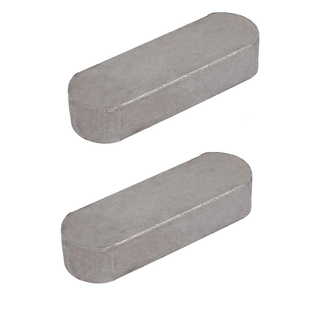 55mmx18mmx11mm Carbon Steel Key Stock To Lock Pulleys 2pcs