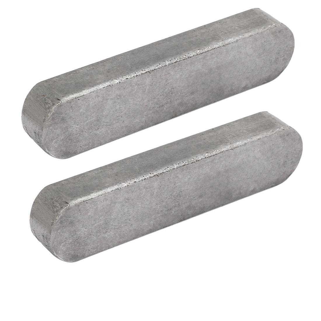 80mmx18mmx11mm Carbon Steel Key Stock To Lock Pulleys 2pcs