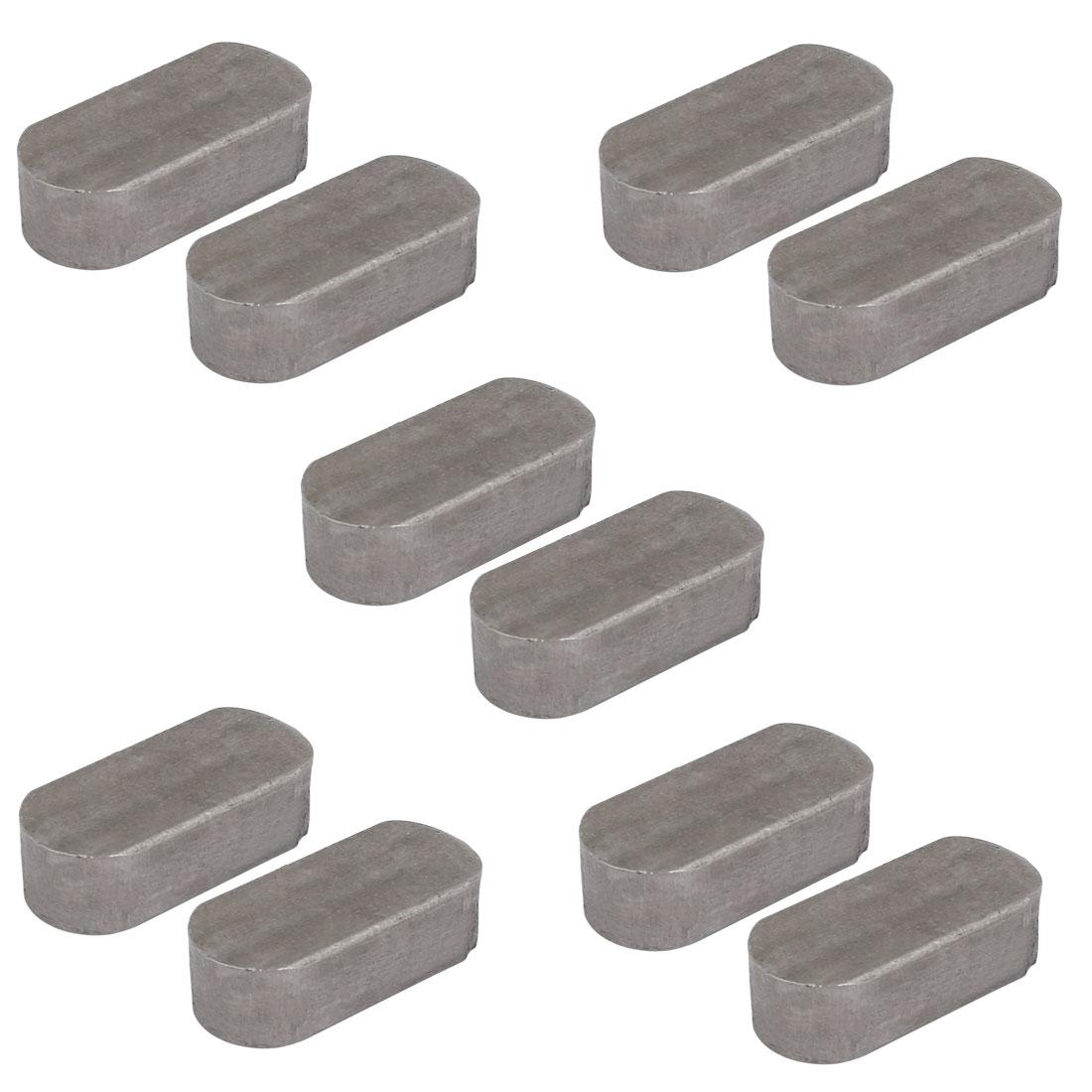35mmx16mmx10mm Carbon Steel Key Stock To Lock Gears Pulleys 10pcs
