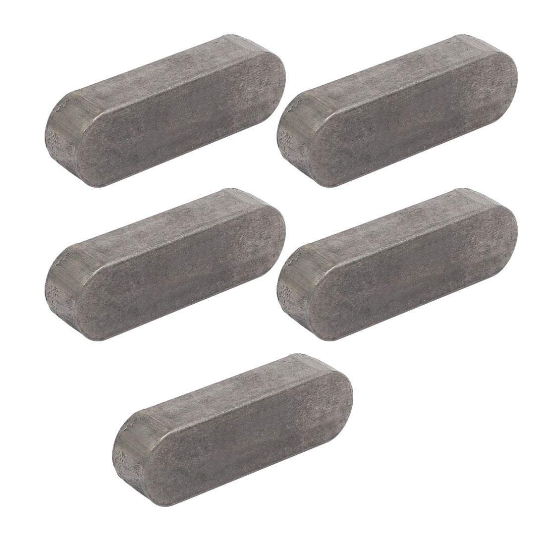 50mmx16mmx10mm Carbon Steel Key Stock To Lock Pulleys 5pcs
