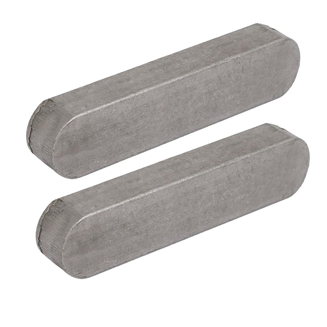 70mmx16mmx10mm Carbon Steel Key Stock To Lock Pulleys 2pcs