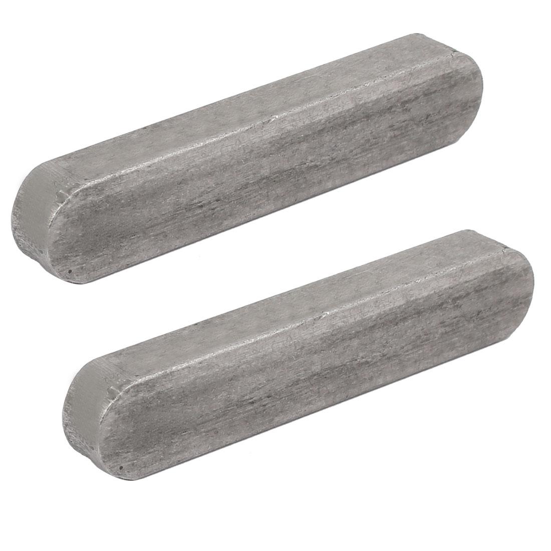 80mmx16mmx10mm Carbon Steel Key Stock To Lock Pulleys 2pcs