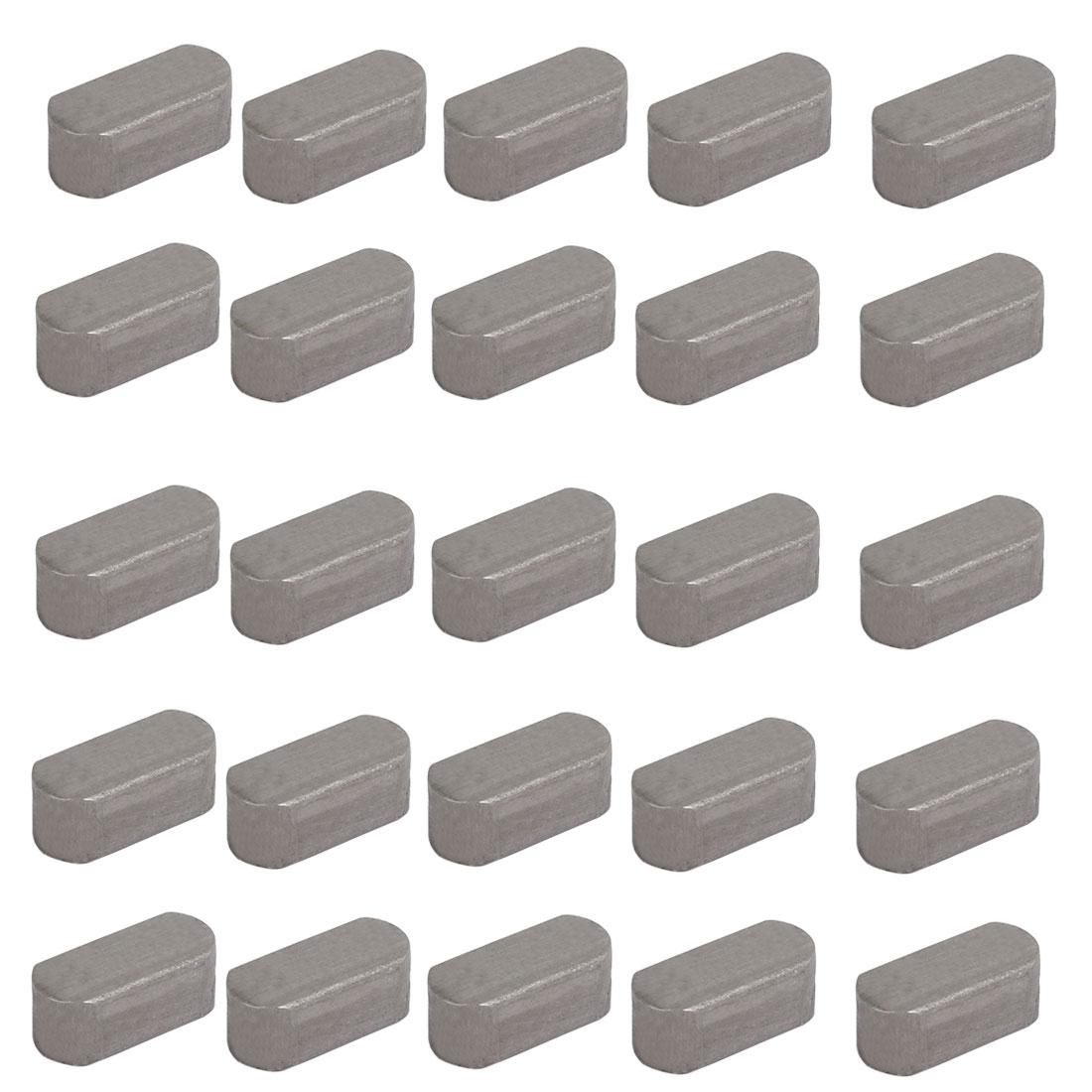 18mmx8mmx7mm Carbon Steel Key Stock To Lock Pulleys 25pcs