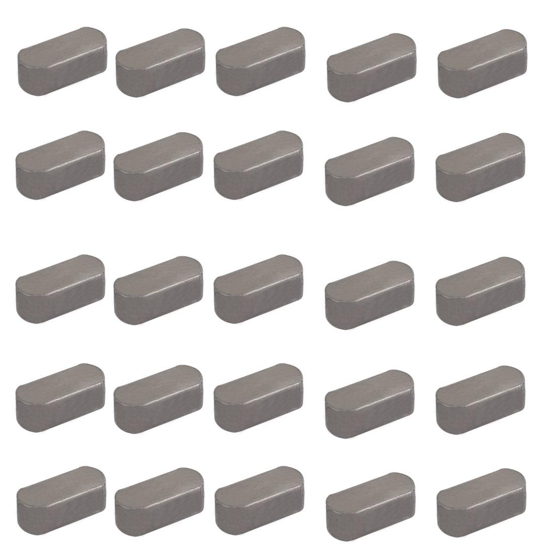 20mmx8mmx7mm Carbon Steel Key Stock To Lock Pulleys 25pcs