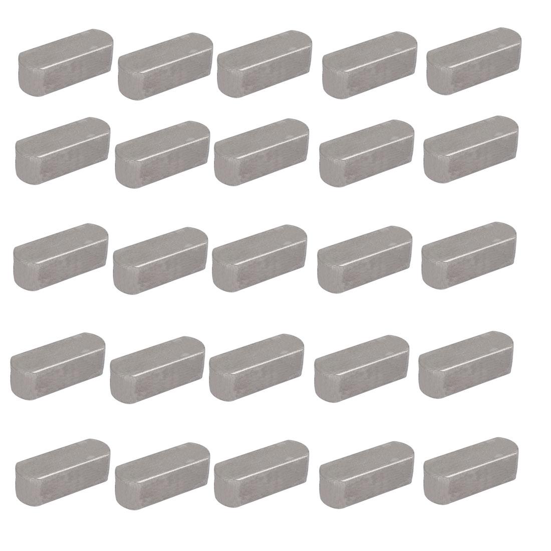 22mmx8mmx7mm Carbon Steel Key Stock To Lock Pulleys 25pcs
