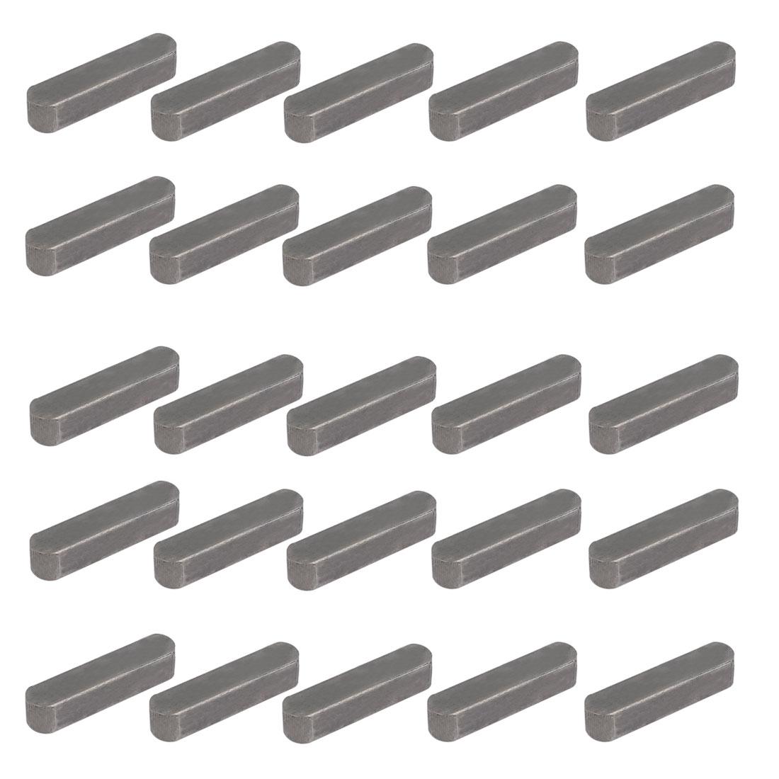 35mmx8mmx7mm Carbon Steel Key Stock To Lock Pulleys 25pcs