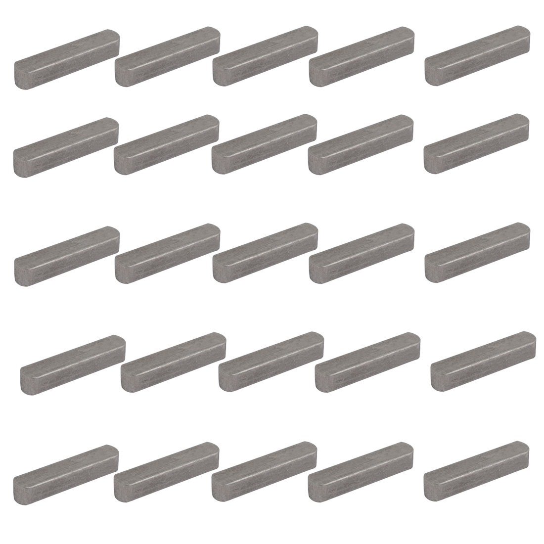40mmx8mmx7mm Carbon Steel Key Stock To Lock Pulleys 25pcs