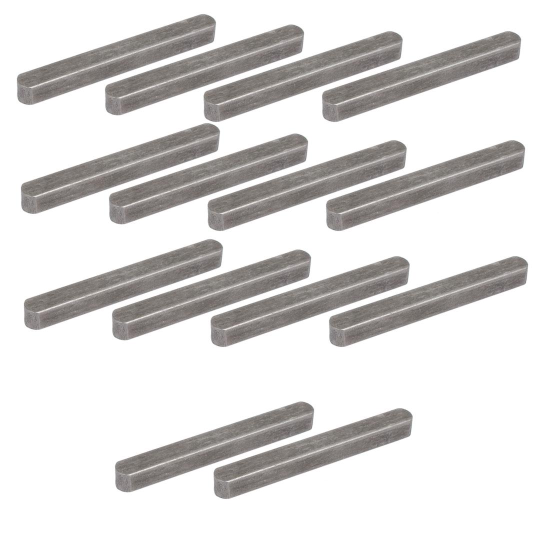 70mmx8mmx7mm Carbon Steel Key Stock To Lock Pulleys 14pcs