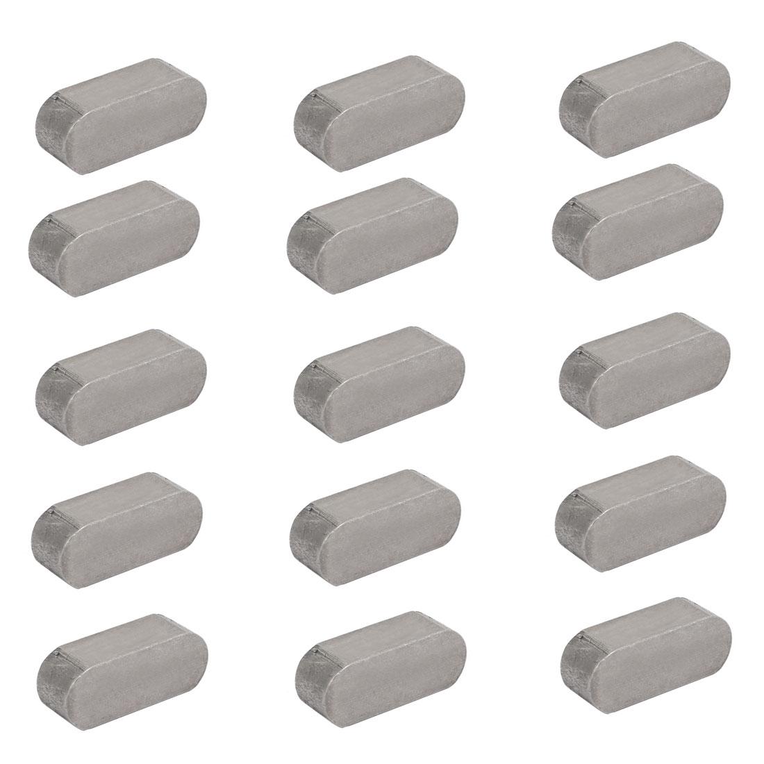 25mmx10mmx8mm Carbon Steel Key Stock To Lock Pulleys 15pcs