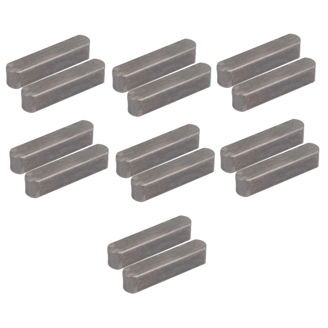 28mmx6mmx6mm Carbon Steel Key Stock To Lock Pulleys 14pcs