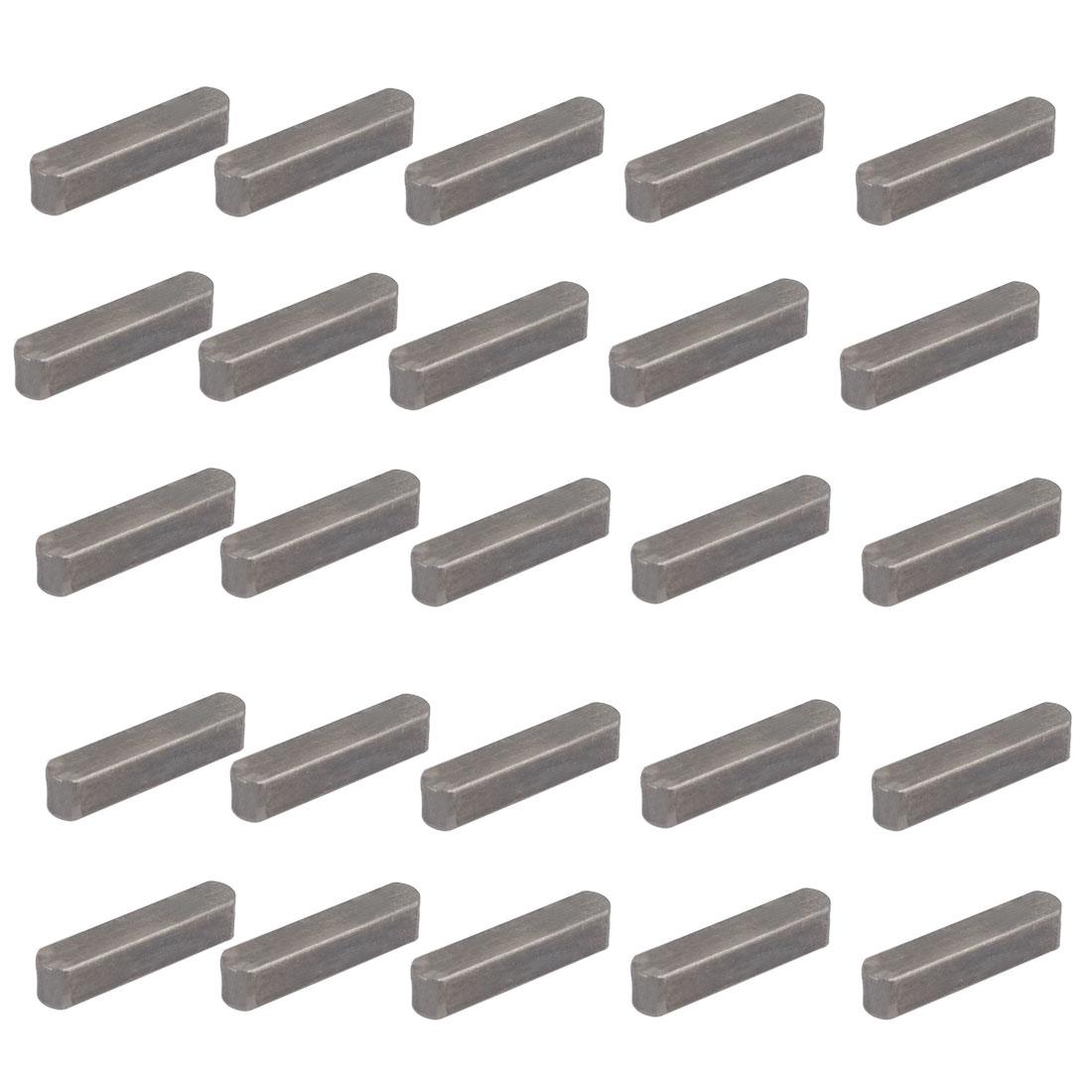 28mmx6mmx6mm Carbon Steel Key Stock To Lock Pulleys 25pcs