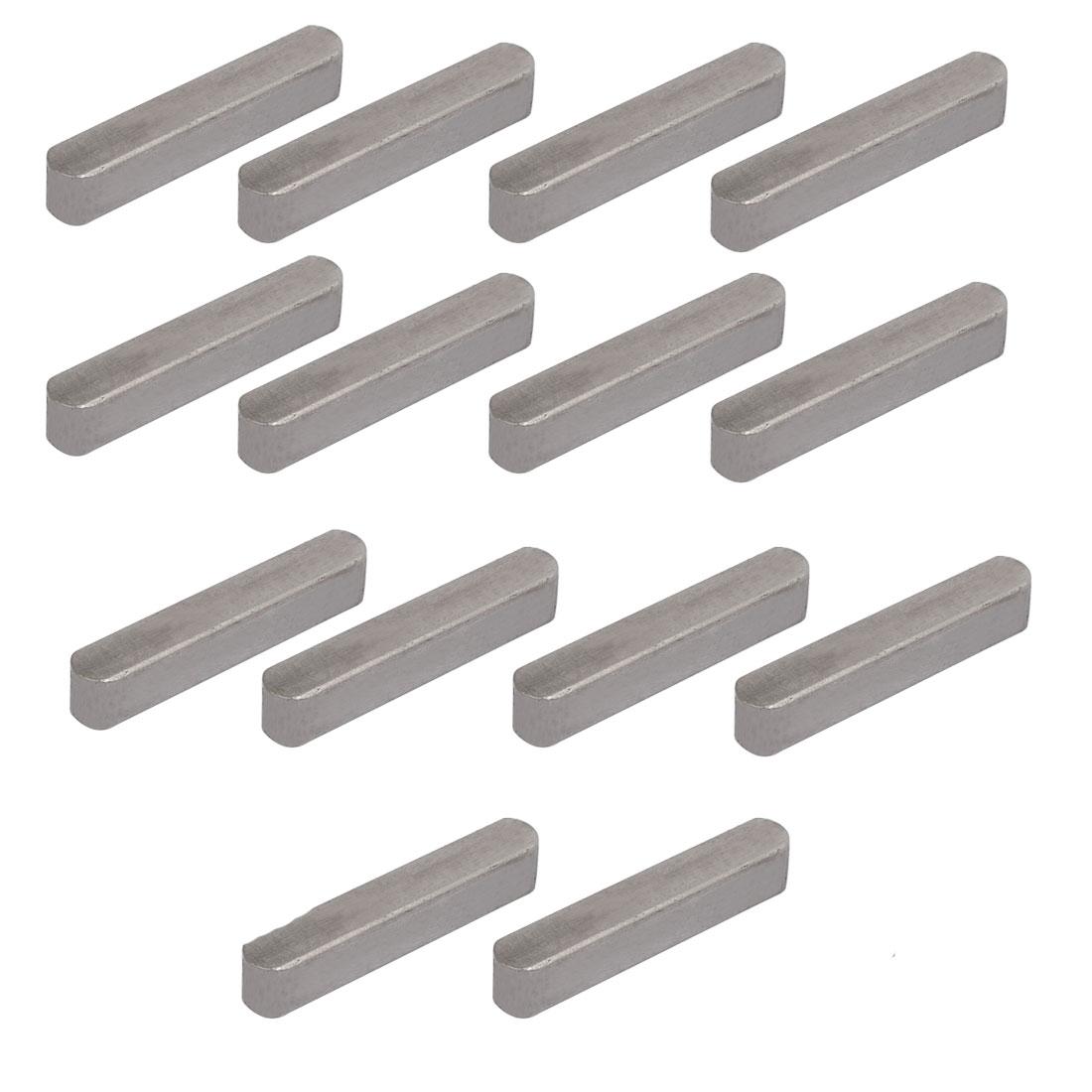 35mmx6mmx6mm Carbon Steel Key Stock To Lock Pulleys 14pcs