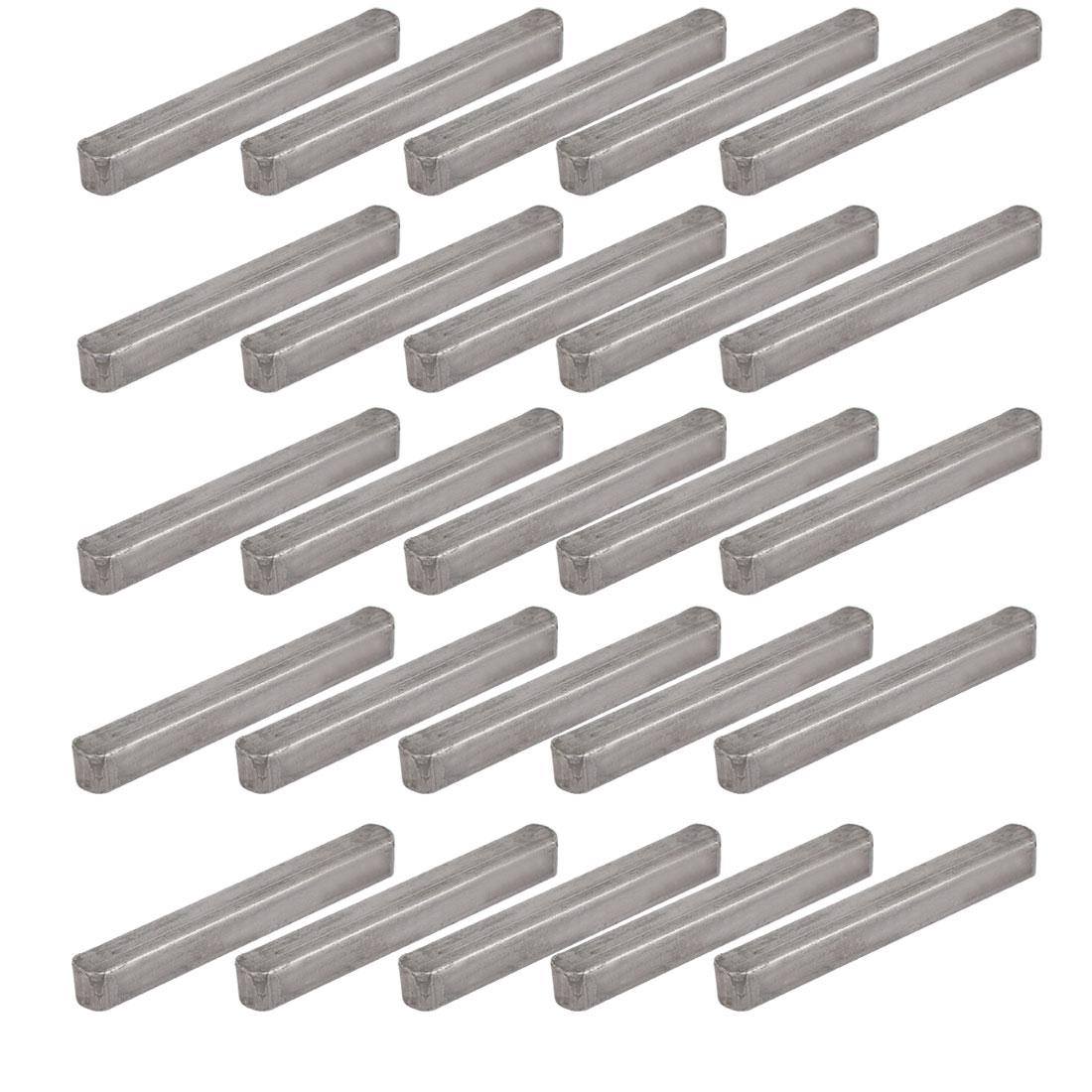 50mmx6mmx6mm Carbon Steel Key Stock To Lock Pulleys 25pcs