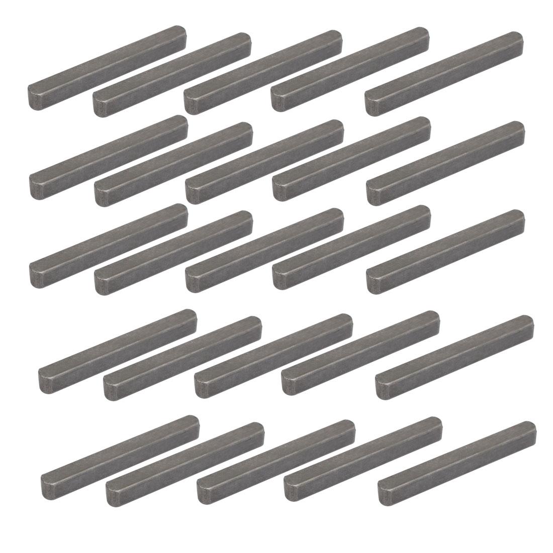 55mmx6mmx6mm Carbon Steel Key Stock To Lock Pulleys 25pcs