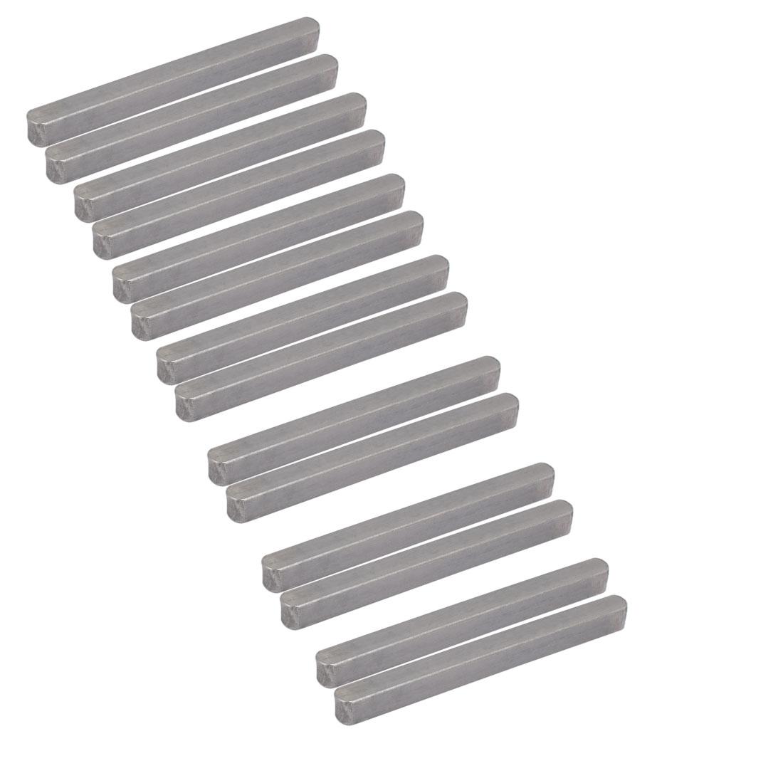 70mmx6mmx6mm Carbon Steel Key Stock To Lock Pulleys 14pcs