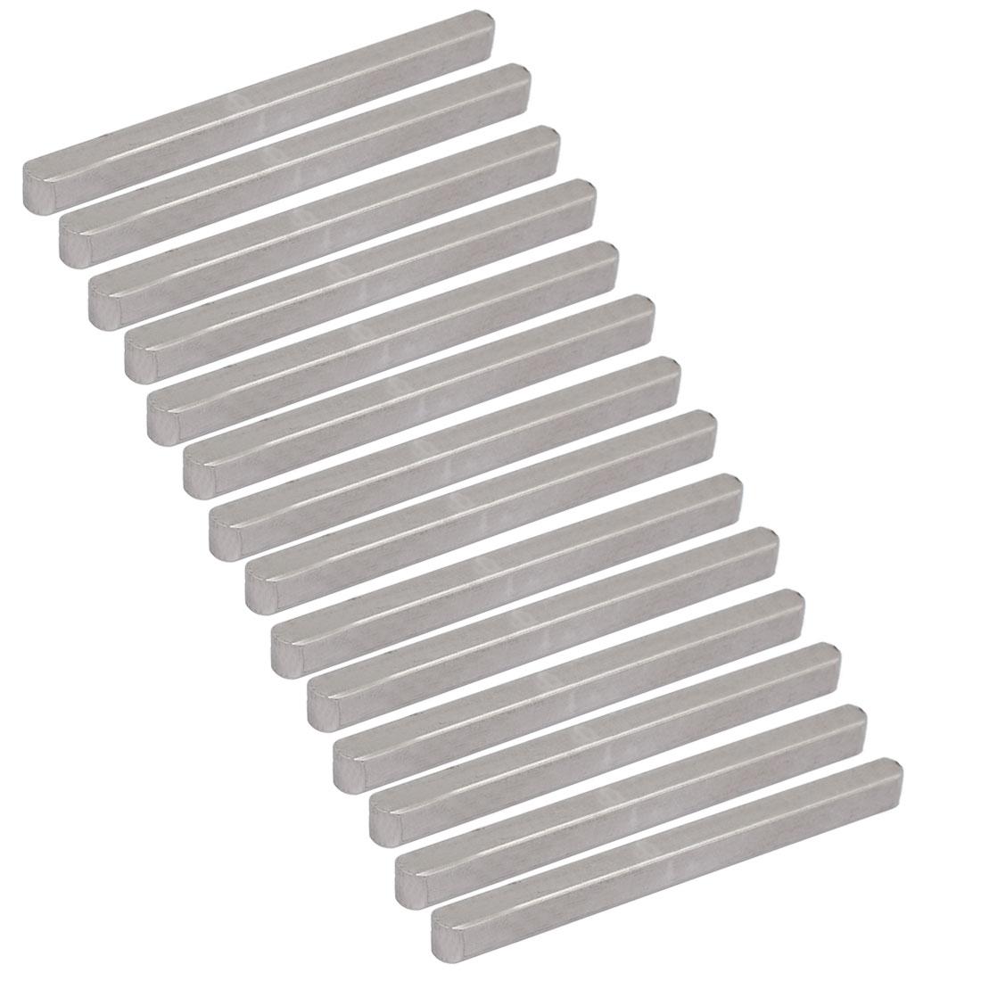 80mmx6mmx6mm Carbon Steel Key Stock To Lock Pulleys 14pcs