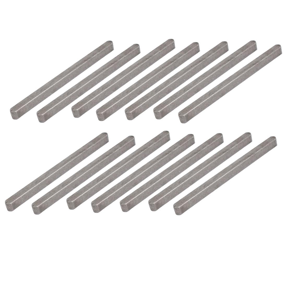 90mmx6mmx6mm Carbon Steel Key Stock To Lock Pulleys 14pcs