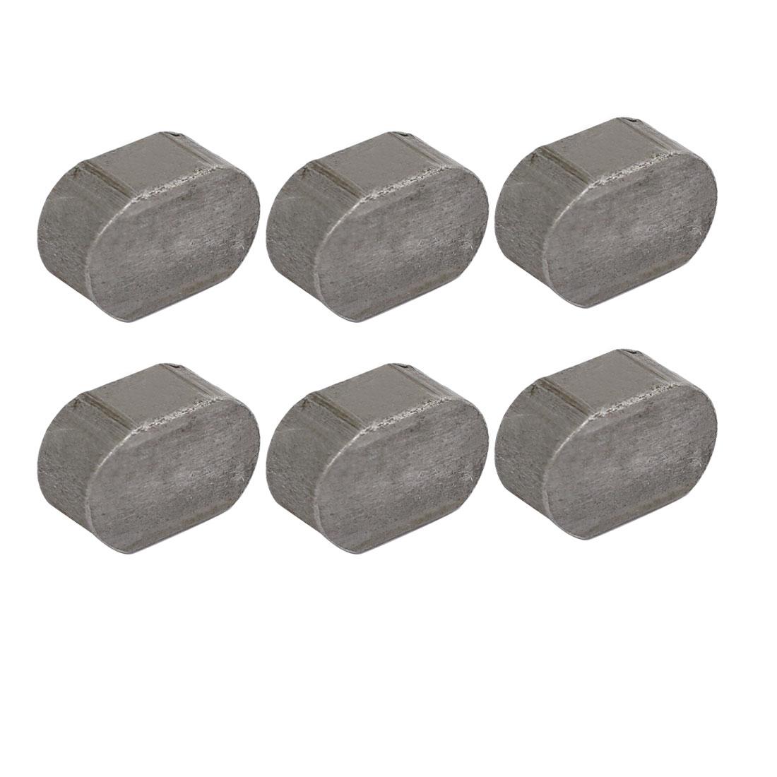 18mmx12mmx8mm Carbon Steel Key Stock To Lock Pulleys 6pcs