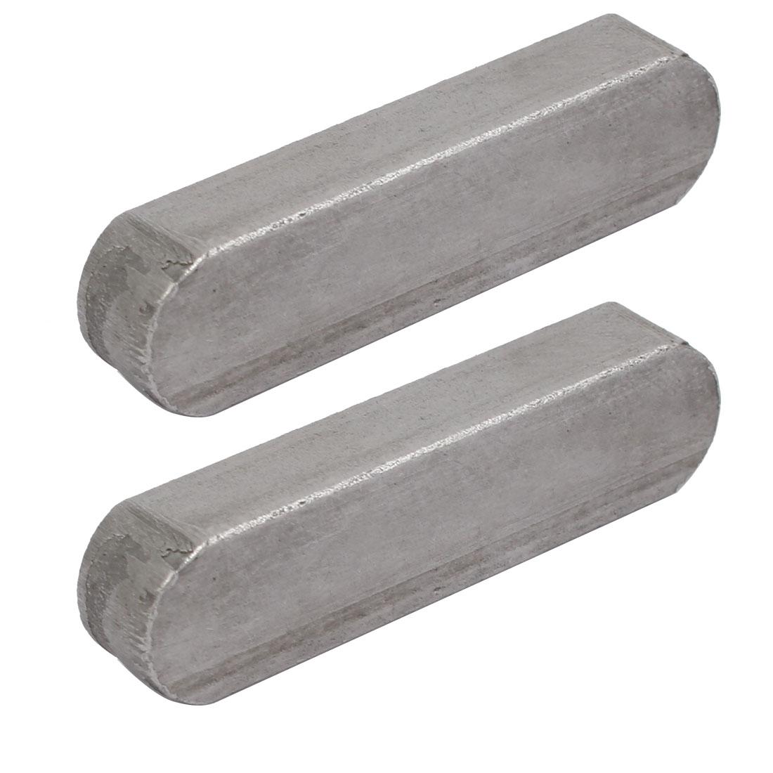 55mmx14mmx9mm Carbon Steel Key Stock To Lock Pulleys 2pcs
