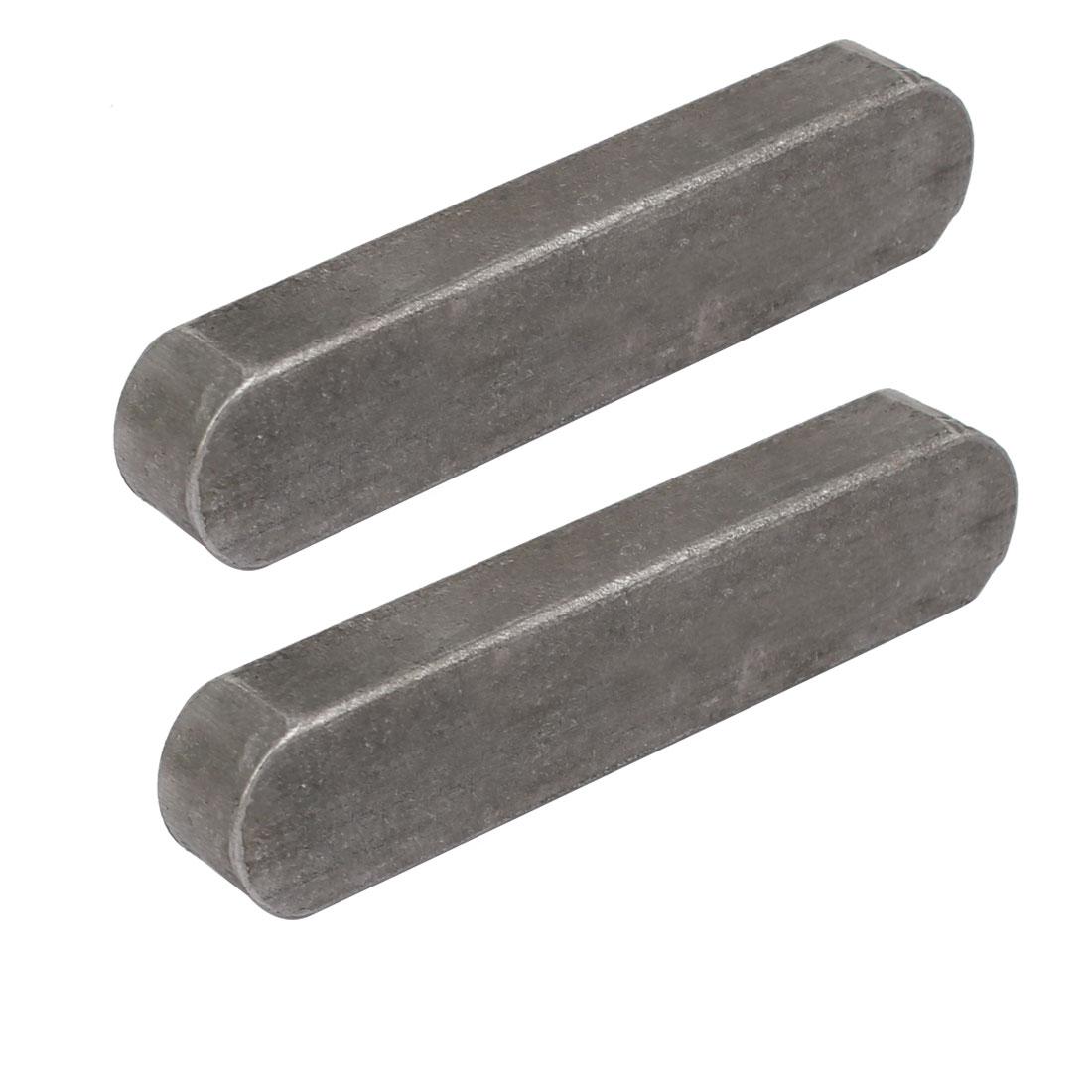65mmx14mmx9mm Carbon Steel Key Stock To Lock Pulleys 2pcs