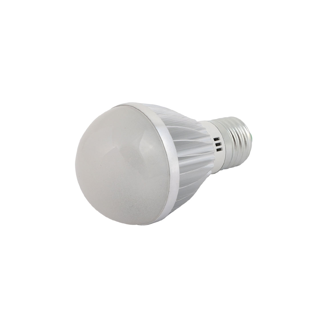 5W Slivery Aluminum Ball - Bulb Lamp Housing E27 Screw Base with Frosted Cover