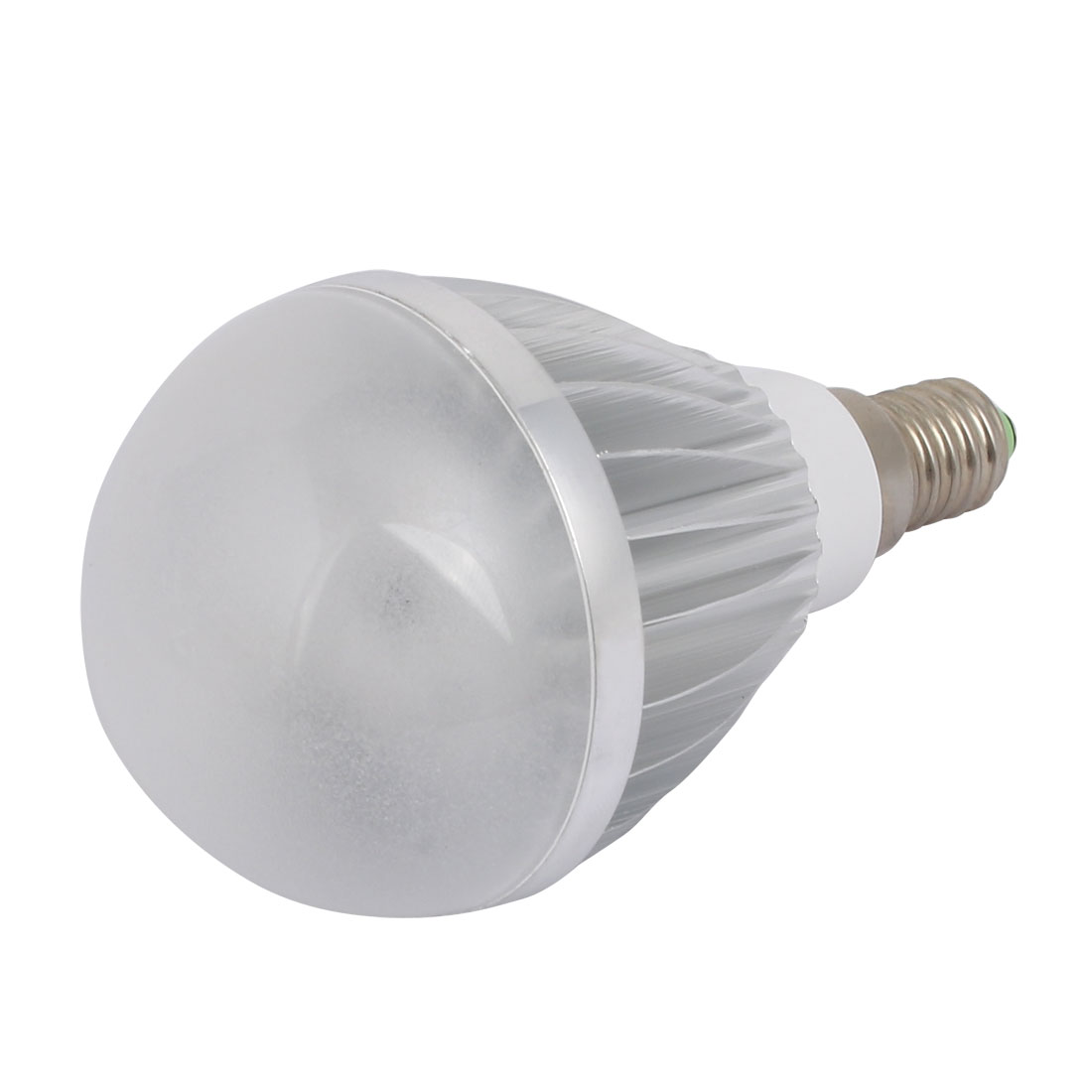 5W Slivery Aluminum Ball - Bulb Lamp Housing E14 Screw Base with Frosted Cover