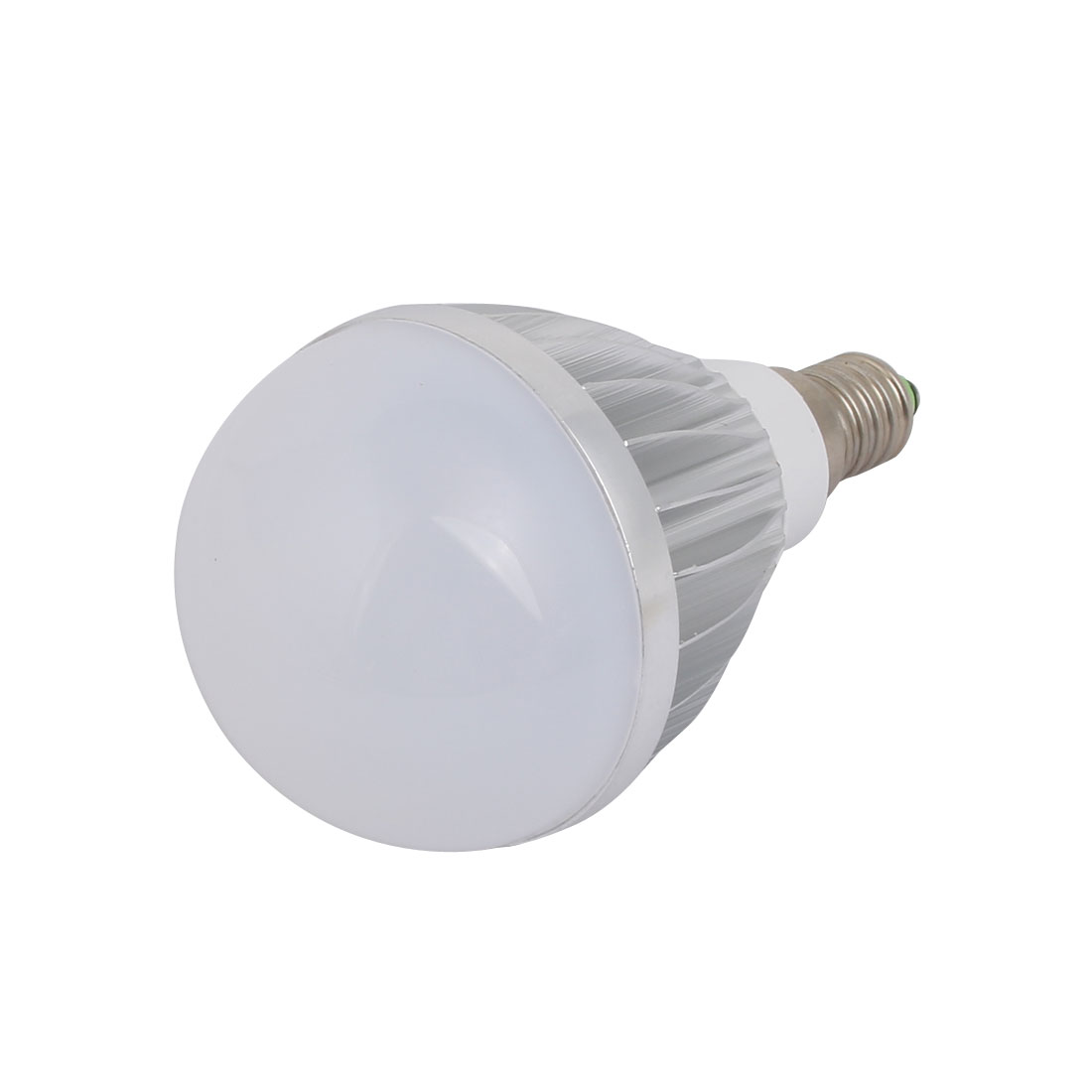 5W Slivery Aluminum Ball - Bulb Lamp Housing E14 Screw Base with White Cover