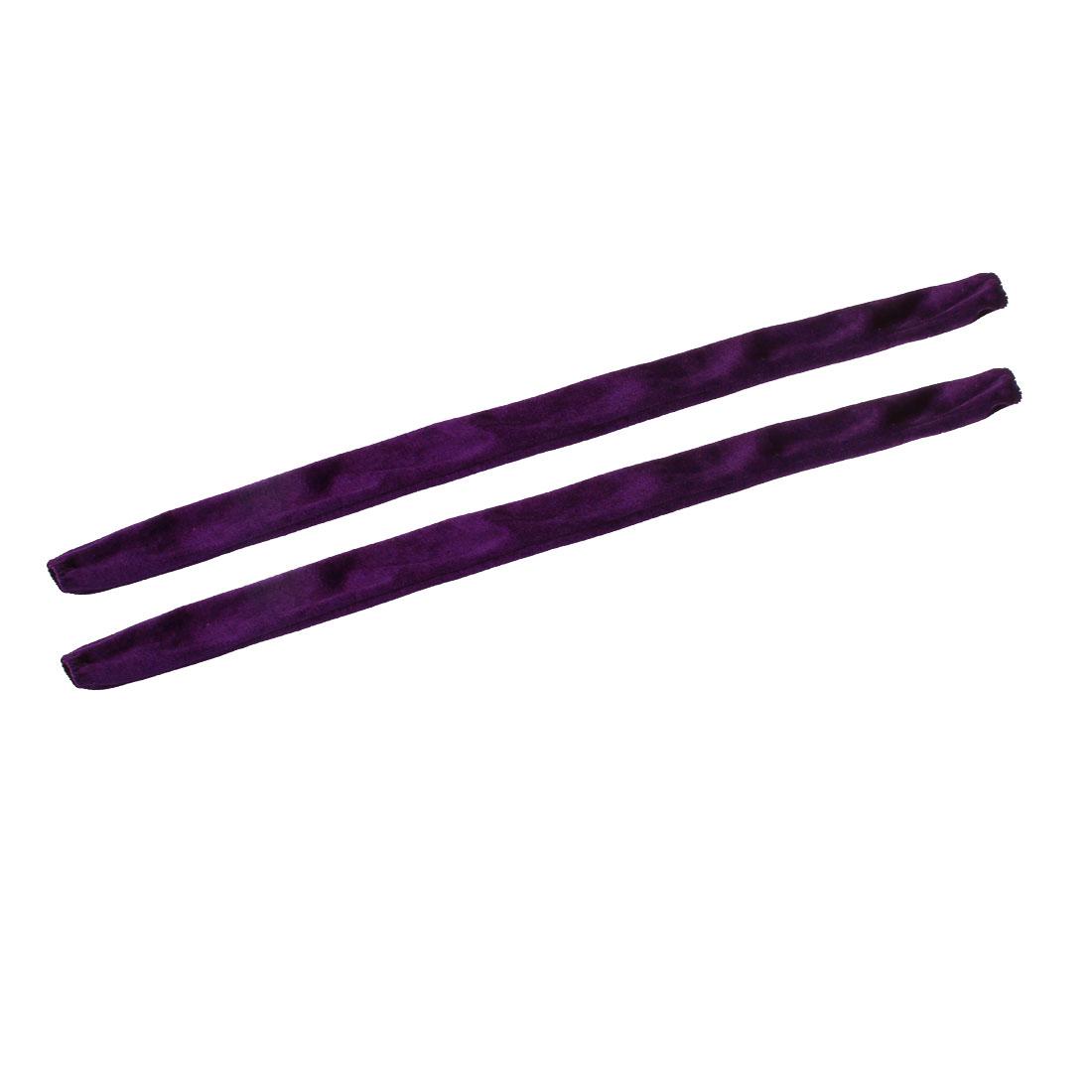 2pcs 60cm Length Chandelier Chain Cover Cotton Flannel for Ceiling Light Purple