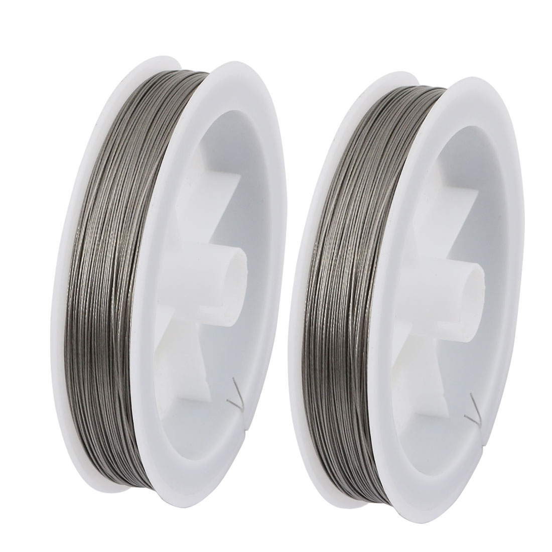 2pcs 0.3mm Diameter 100 Meters Long Steel Wire Light Accessory for Crystal Bead
